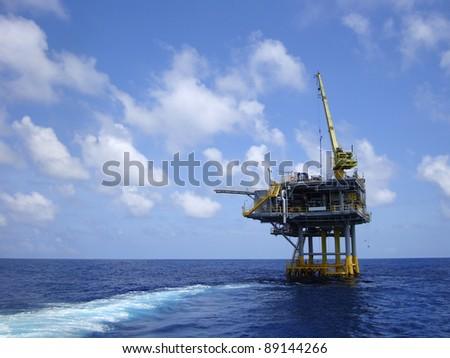 Offshore Production Platform For Petroleum Development - stock photo
