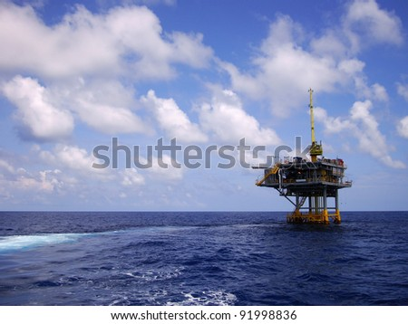 Offshore Production Platform in the Middle of Ocean for Oil and Gas Production