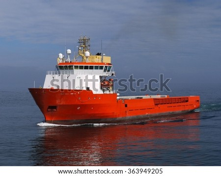 Offshore Supply Ship A - stock photo