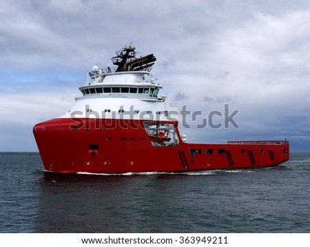 Offshore Supply Ship C - stock photo