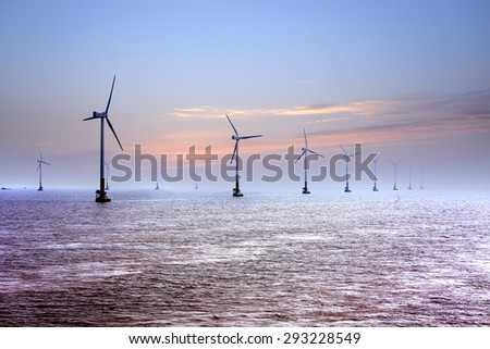 Offshore wind - stock photo