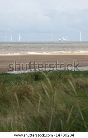Offshore Wind Farm, Lincolnshire, England, U.K. - stock photo