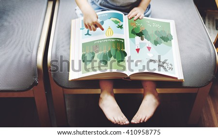 Offspring Toddler Adolescence Cheerful Girl Happy Concept - stock photo