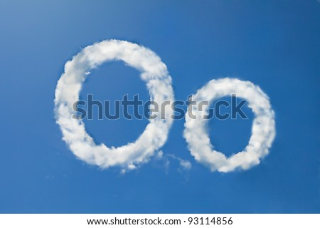 ofont clouds - stock photo