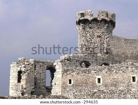 Ogrodzieniec castle - stock photo