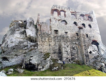 Ogrodzieniec castle, Poland - stock photo