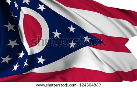 Ohio flag - USA state flags collection no_3 - stock photo