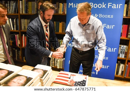 Ohio Governor John Kasich Signs his book 'Two Paths: America Divided or United' at a meet & Greet on Friday, May 26, 2017 at Books & Books in Coral Gables, Fla.