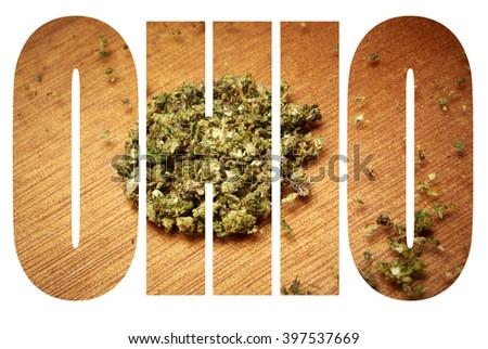 Ohio Marijuana  - stock photo