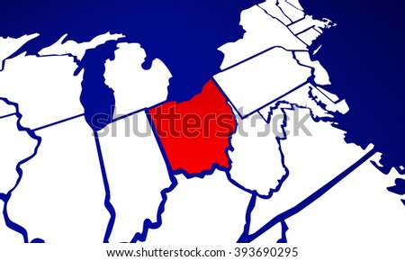 Ohio Map Stock Images, Royalty-Free Images & Vectors | Shutterstock