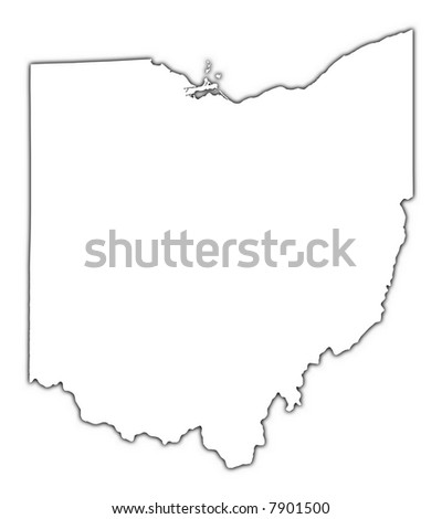 Ohio State Outline Stock Images RoyaltyFree Images Vectors - State outline map