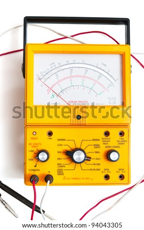 Ohm meter isolated on white