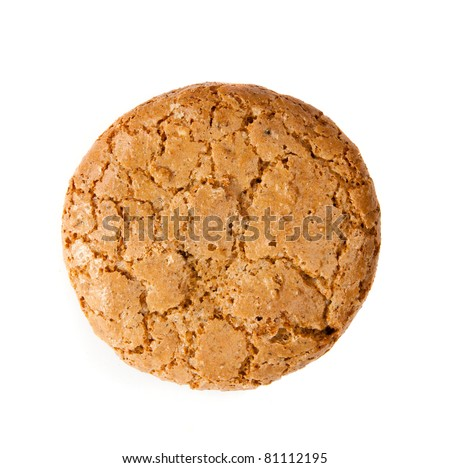 Ohomemade fresh oats cookies isolated on  light - stock photo