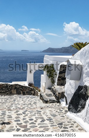 Oia ( Santorini ) - stock photo