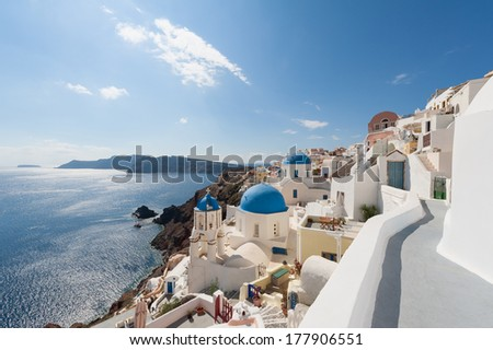 Oia Santorini Greece - stock photo