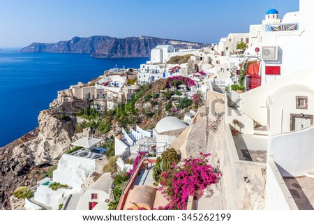 Oia view, Santorini Island, Greece - stock photo