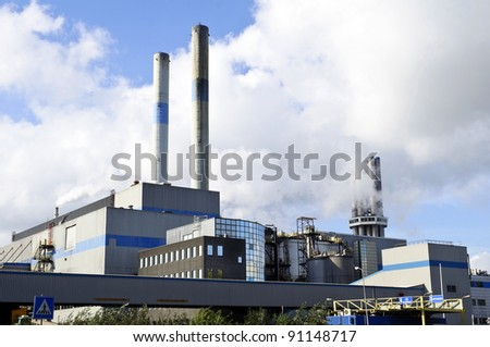 oil and chemical refinery - stock photo