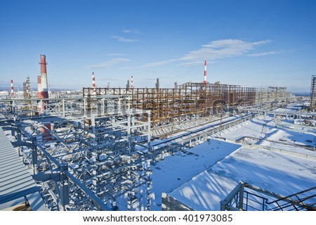 oil and gas industry in powerful - stock photo