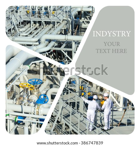 Oil And Gas Industry. Industrial. Industrial concept - stock photo