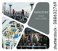 Oil And Gas Industry. Industrial. Manufacturing photo collage - stock photo