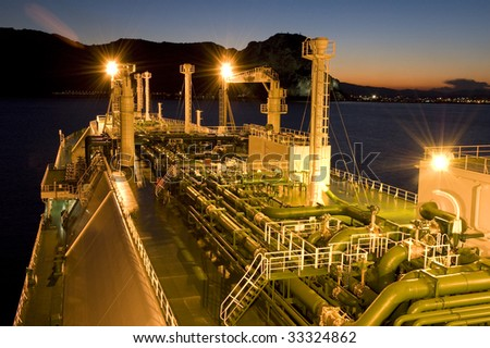 Oil and gas industry � liquefied natural gas tanker LNG - stock photo