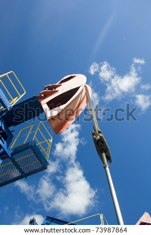 Oil and gas industry. Work of oil pump jack on a oil field. Bottom view - stock photo