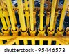Oil and Gas Producing Slots at Offshore Platform - Oil and Gas Industry - stock photo