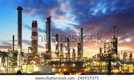 Oil and gas refinery, Power Industry - stock photo