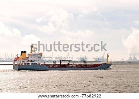 oil and gas tanker - stock photo
