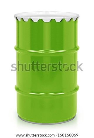 Oil and Petroleum Barrel on white isolated background.  (with clipping work path) - stock photo
