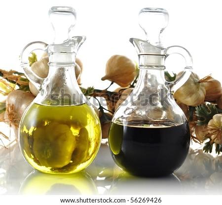 oil and vinegar - stock photo
