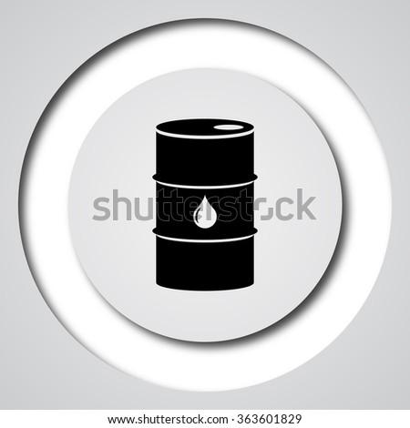 Oil barrel icon. Internet button on white background.  - stock photo