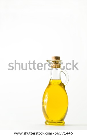 oil bottle - stock photo