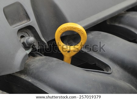 Oil Cap in an Automobile Engine - stock photo