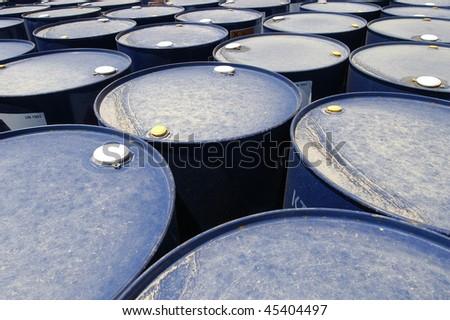 oil cask - stock photo
