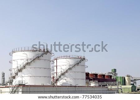 oil depot terminal - stock photo
