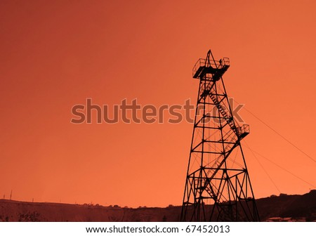 Oil derrick during sunset - Azerbaijan, Baku