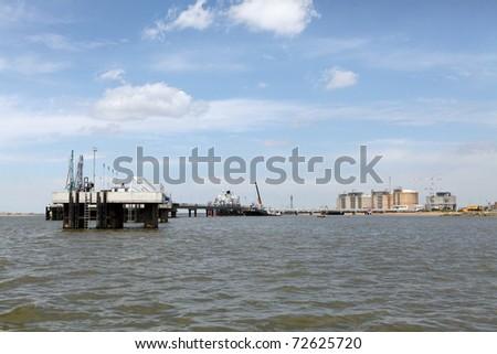 Oil dock. - stock photo