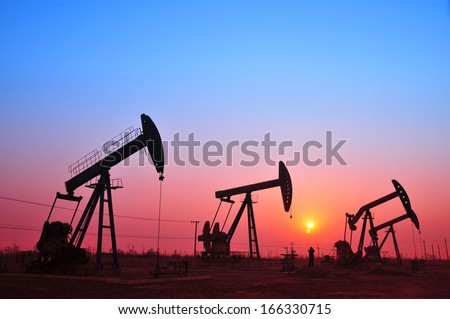 Oil drilling rig, tanghai county of hebei province oil fields in China