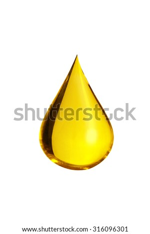 oil drop isolate on white background - stock photo