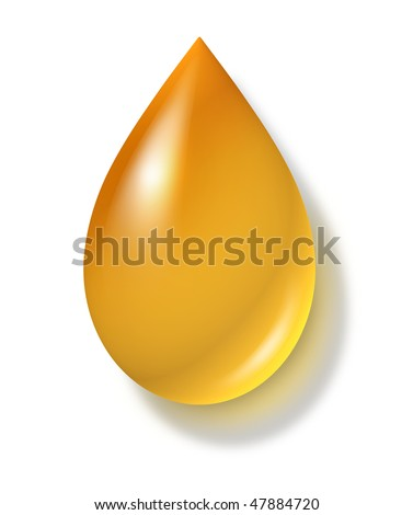 oil drop isolated on white background - stock photo