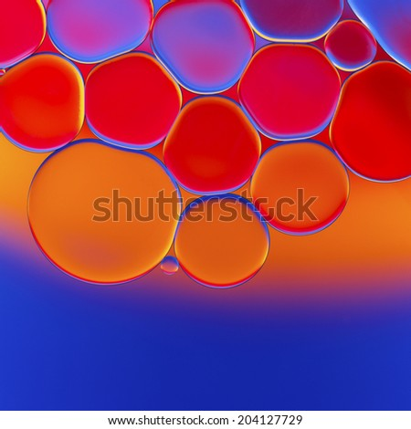 Oil droplet abstract background - stock photo