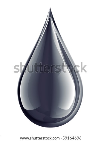 oil droplet isolated on white - stock photo