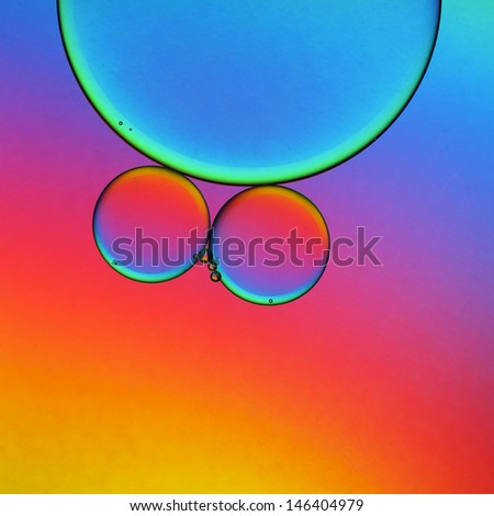 Oil droplets abstract - stock photo