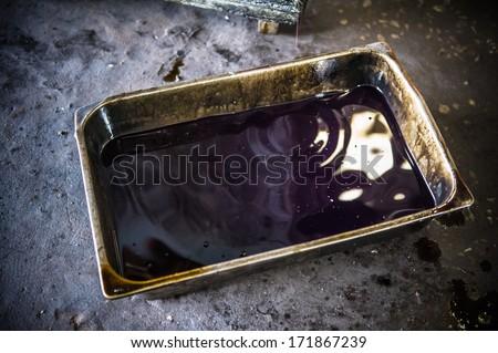 oil engine car - stock photo