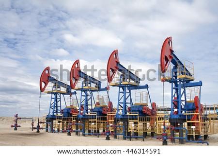 Oil equipment scene - stock photo