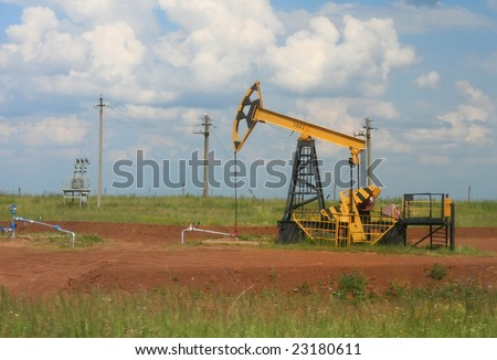 Oil extraction - stock photo