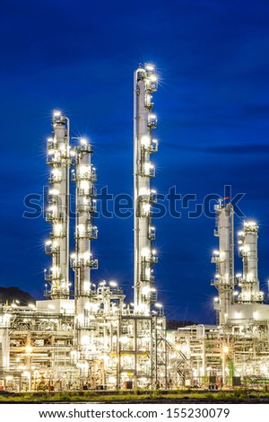 Oil factory plant - stock photo