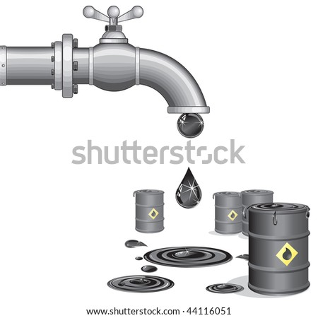 Oil faucet with barrels ( id=44062855 version vector)