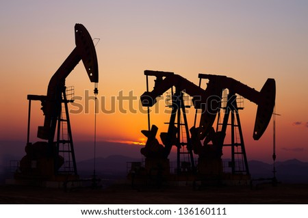 oil field. Oil and gas industry. - stock photo